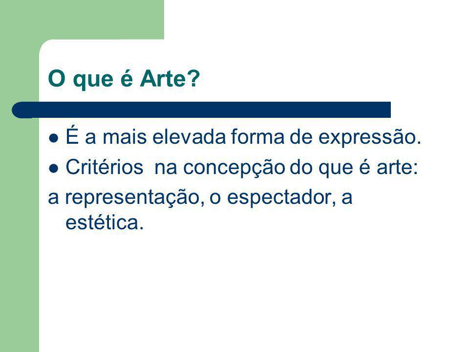 O que é Arte É a mais elevada forma de expressão.