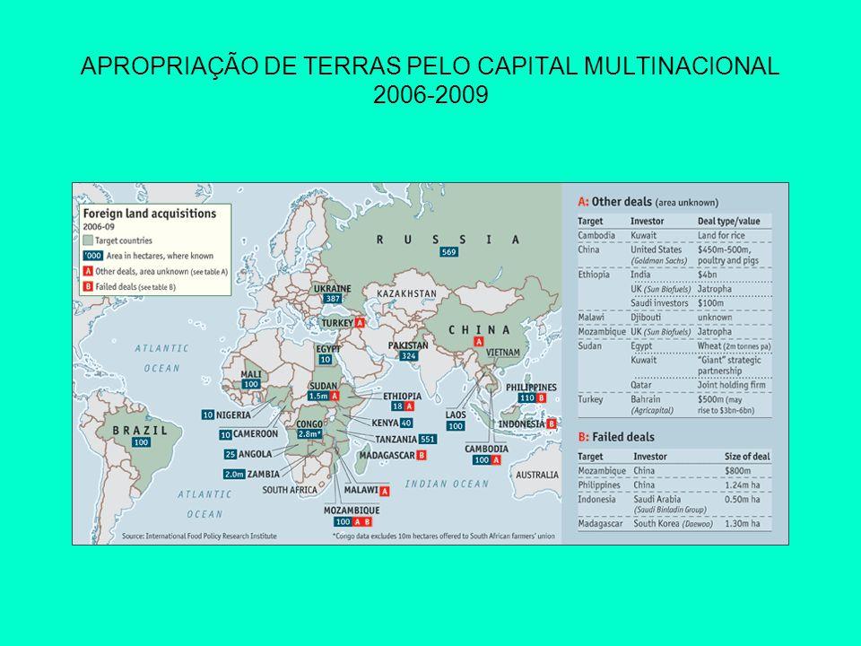 APROPRIAÇÃO DE TERRAS PELO CAPITAL MULTINACIONAL 2006-2009