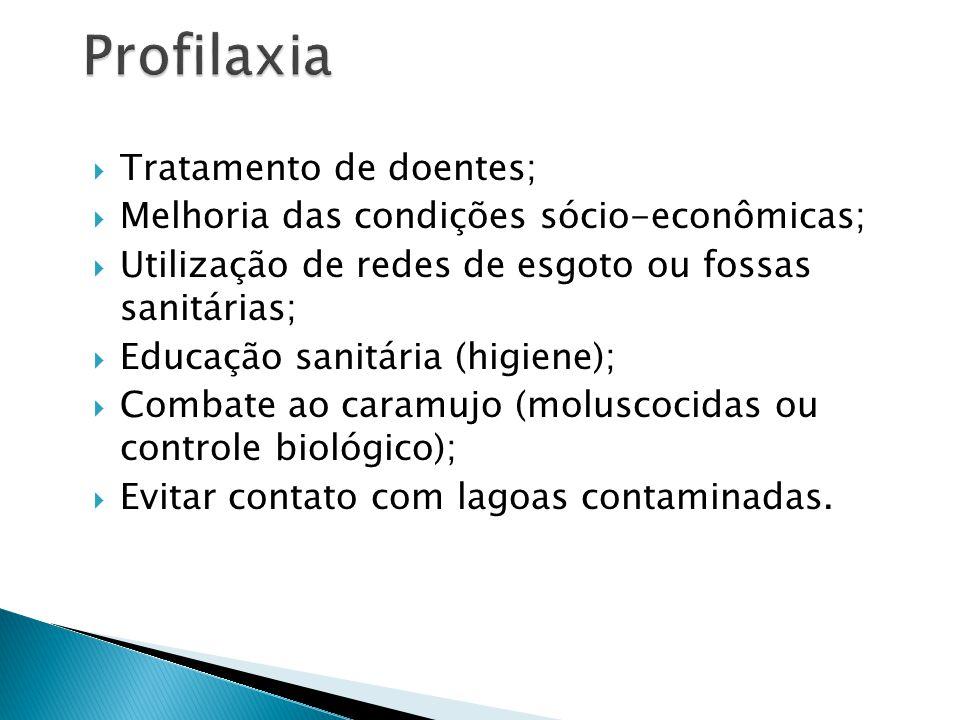 Profilaxia Tratamento de doentes;