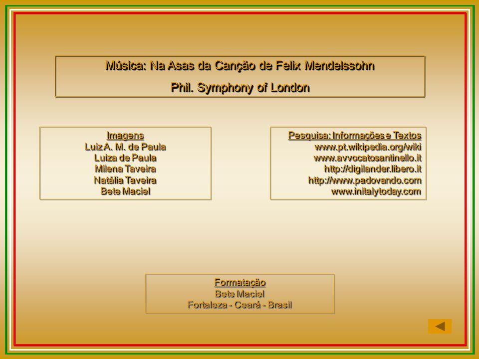 Música: Na Asas da Canção de Felix Mendelssohn
