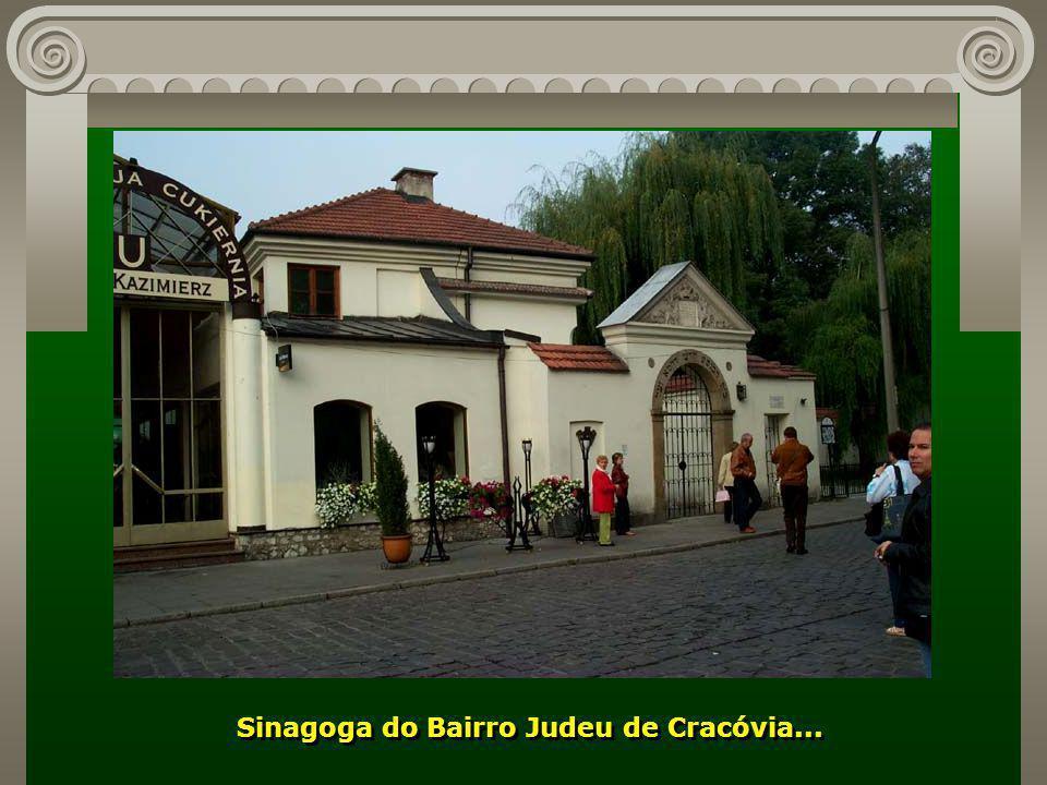 Sinagoga do Bairro Judeu de Cracóvia...