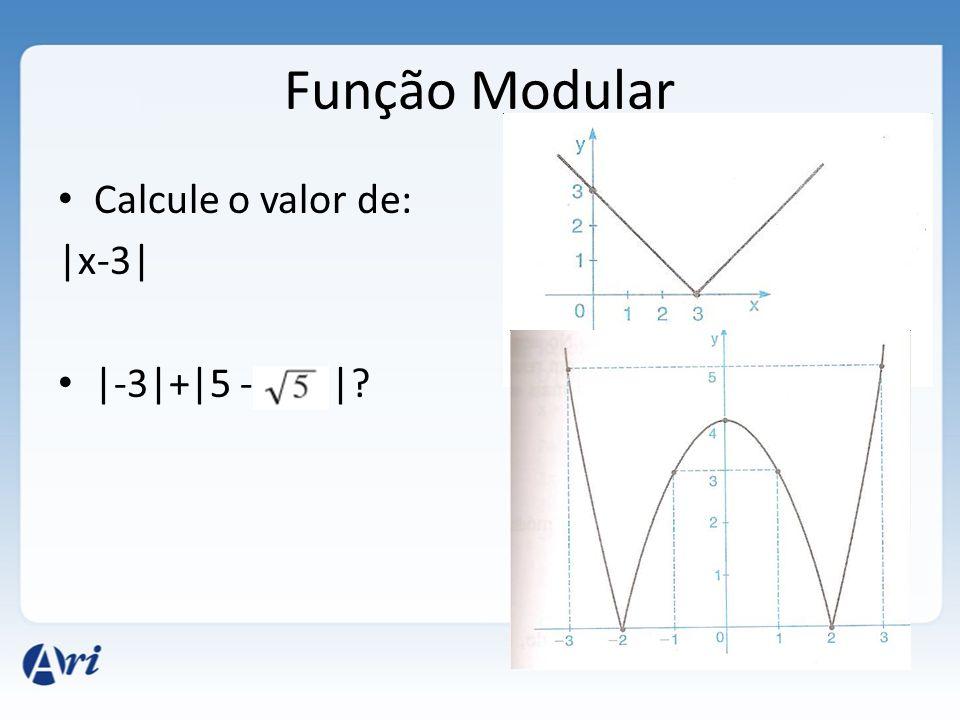 Função Modular Calcule o valor de: |x-3| |-3|+|5 - |