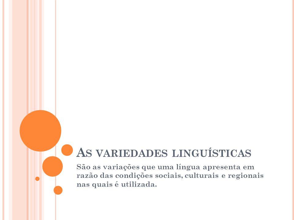 As variedades linguísticas