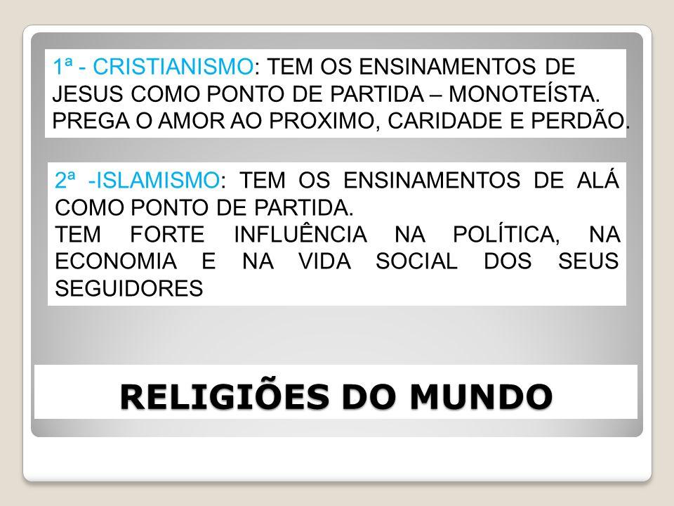 RELIGIÕES DO MUNDO 1ª - CRISTIANISMO: TEM OS ENSINAMENTOS DE