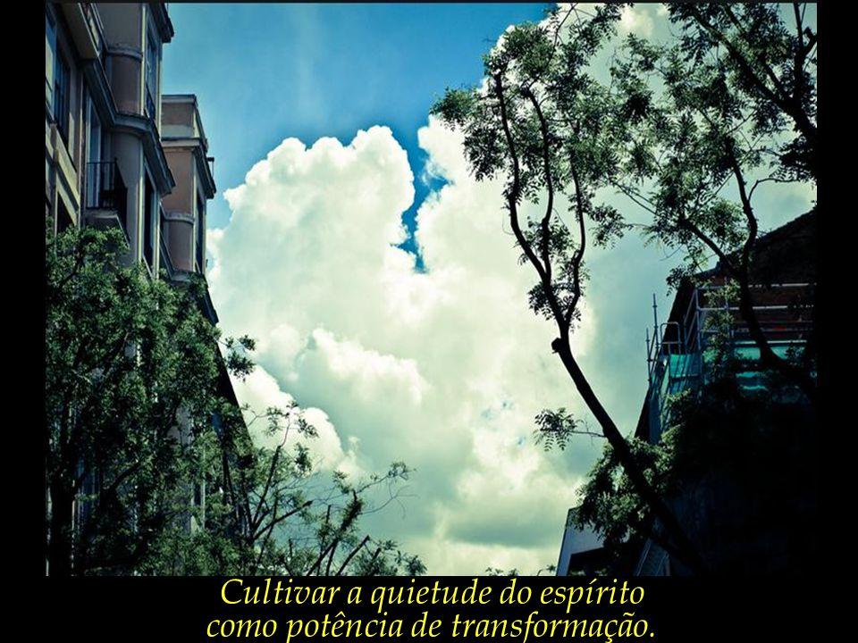 Cultivar a quietude do espírito como potência de transformação.