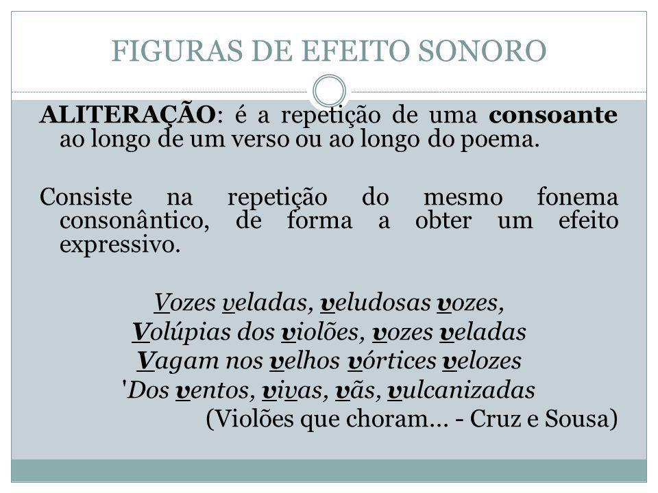 FIGURAS DE EFEITO SONORO
