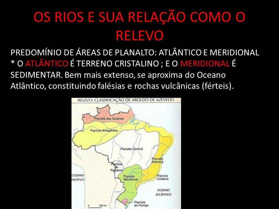 OS RIOS E SUA RELAÇÃO COMO O RELEVO