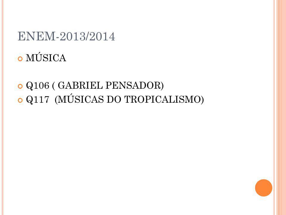 ENEM-2013/2014 MÚSICA Q106 ( GABRIEL PENSADOR)