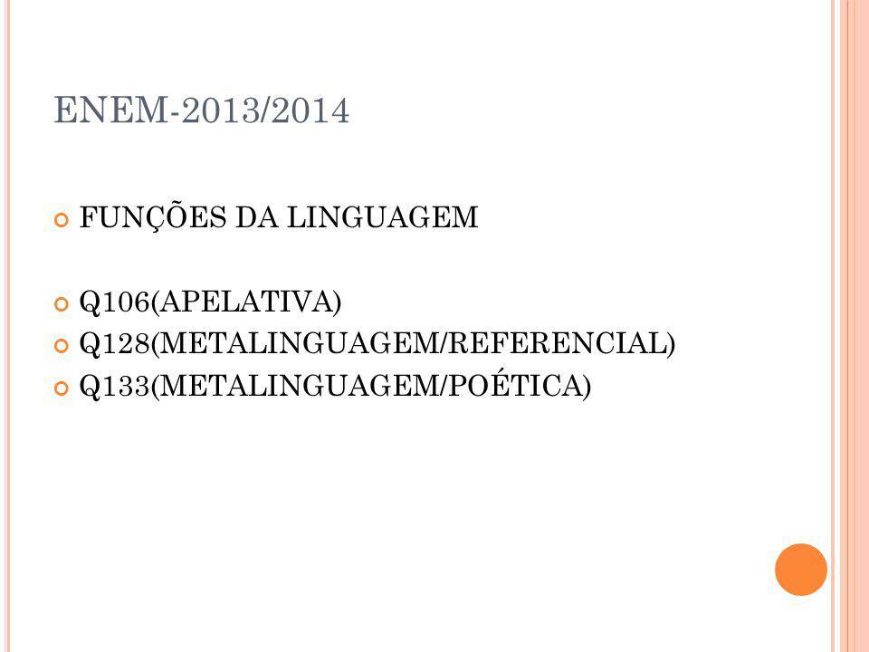 ENEM-2013/2014 FUNÇÕES DA LINGUAGEM Q106(APELATIVA)
