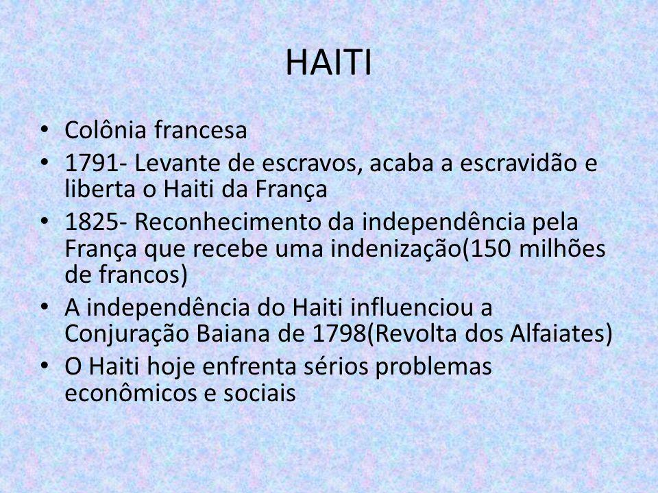 HAITI Colônia francesa