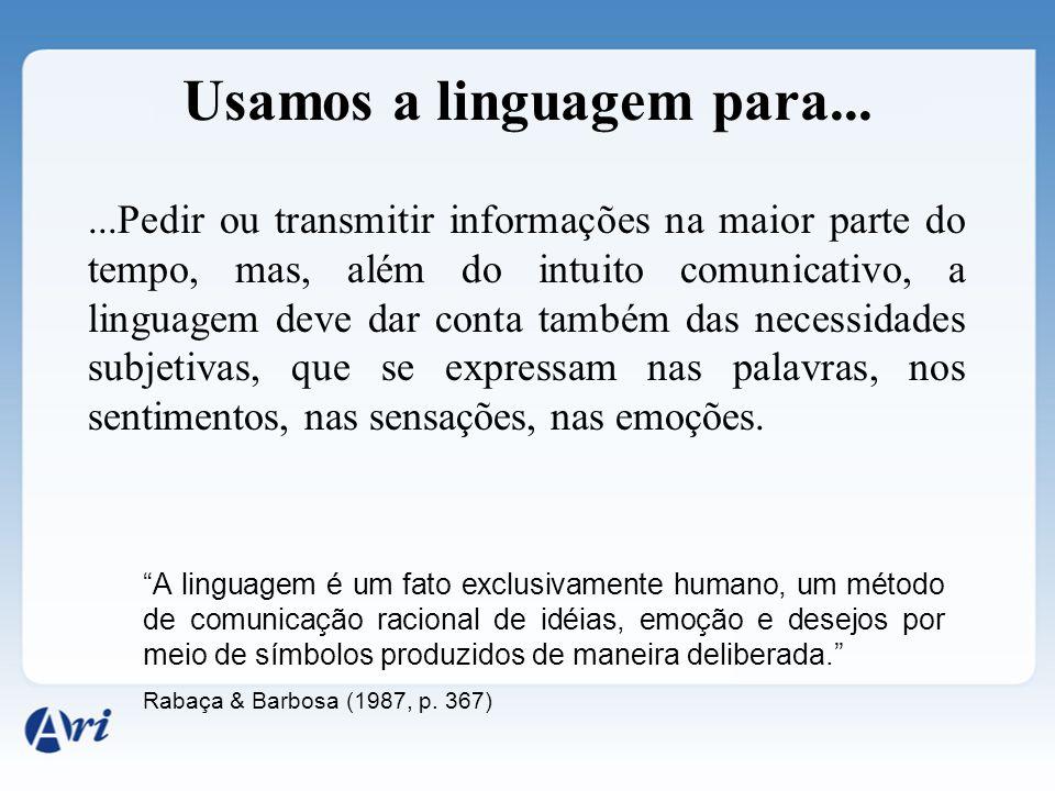 Usamos a linguagem para...