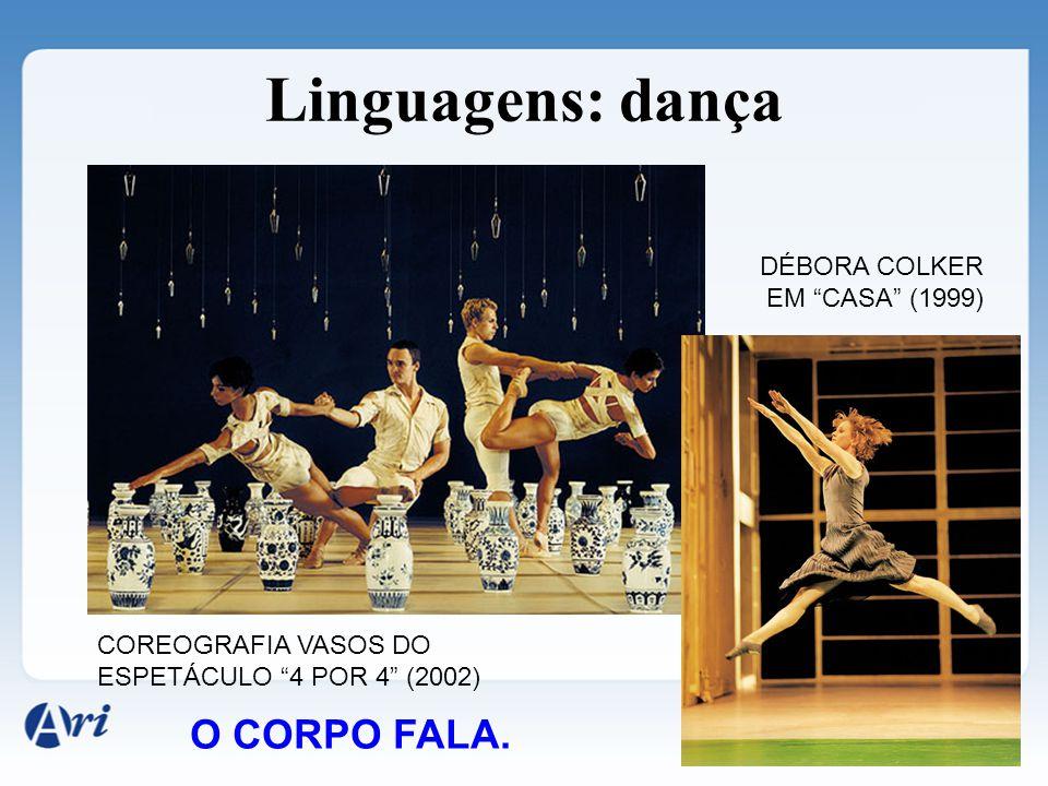 Linguagens: dança O CORPO FALA. DÉBORA COLKER EM CASA (1999)