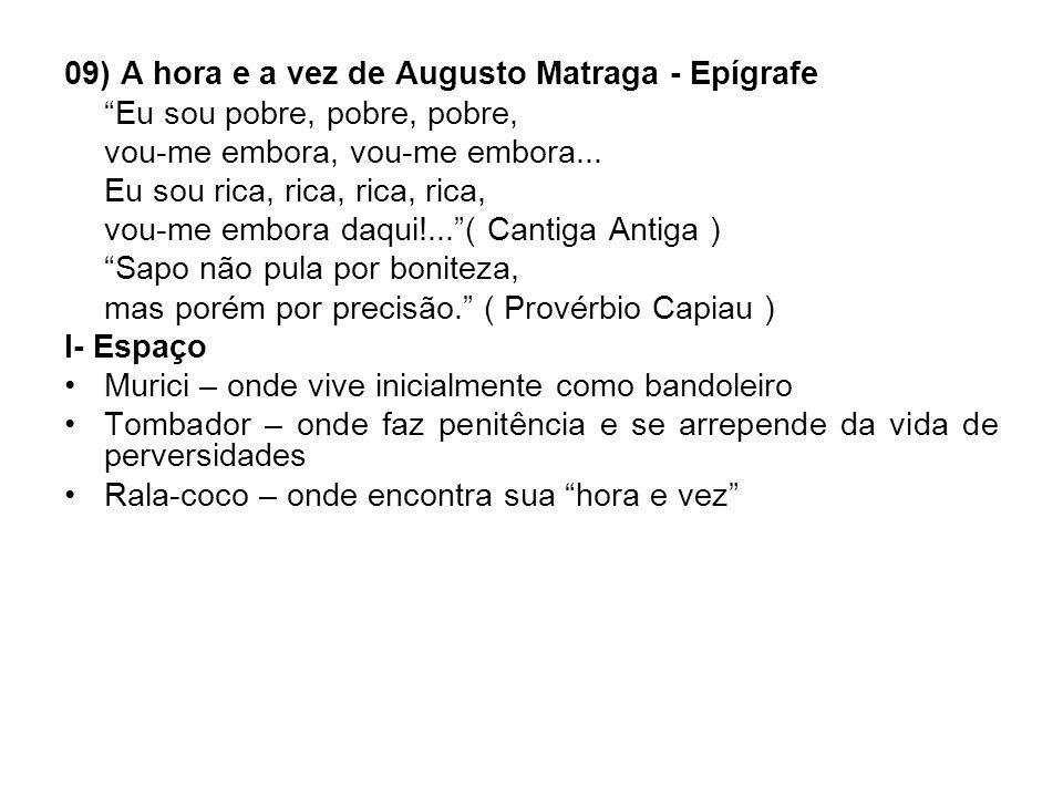 09) A hora e a vez de Augusto Matraga - Epígrafe