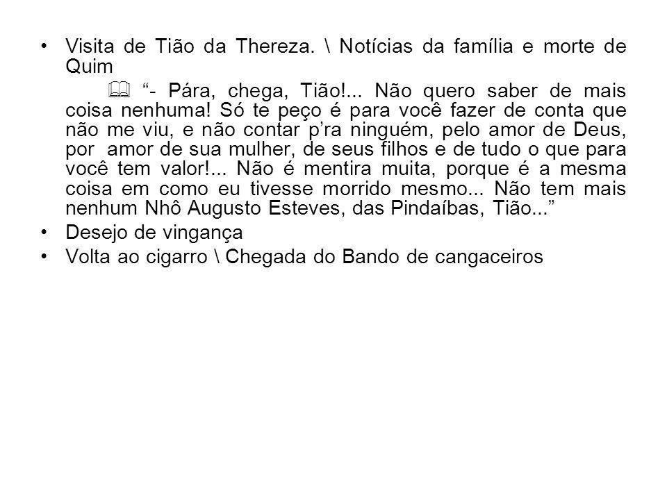 Visita de Tião da Thereza. \ Notícias da família e morte de Quim