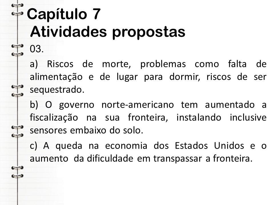 Capítulo 7 Atividades propostas