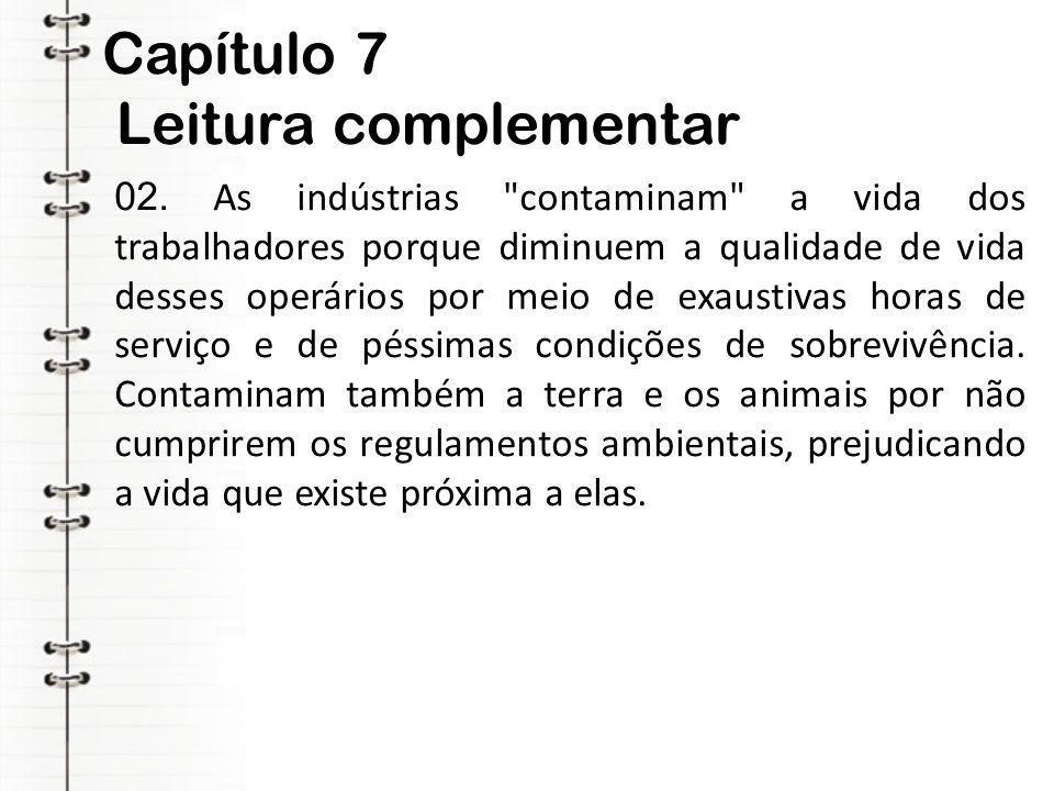 Capítulo 7 Leitura complementar