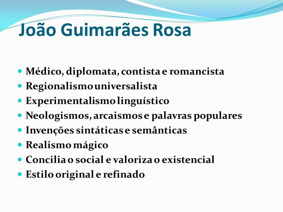 João Guimarães Rosa Médico, diplomata, contista e romancista