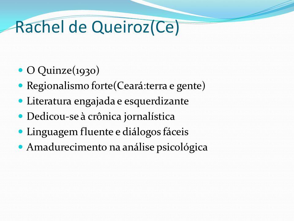 Rachel de Queiroz(Ce) O Quinze(1930)