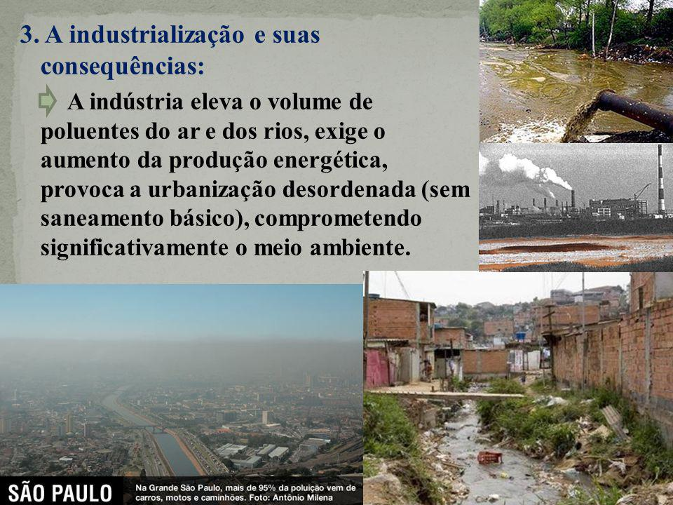3. A industrialização e suas consequências: