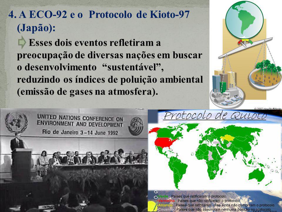 4. A ECO-92 e o Protocolo de Kioto-97 (Japão):