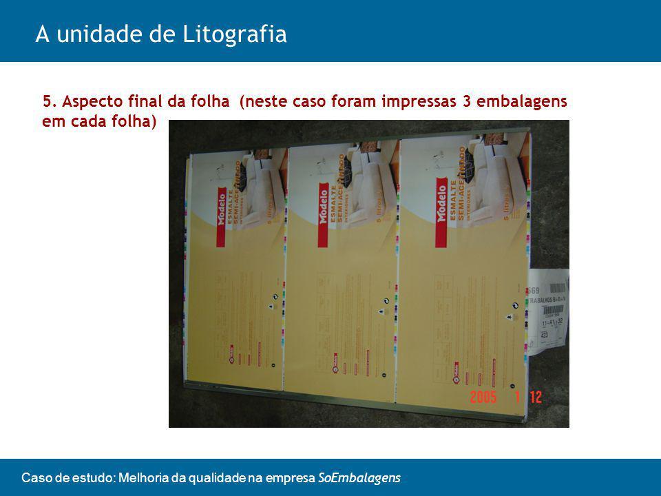 A unidade de Litografia