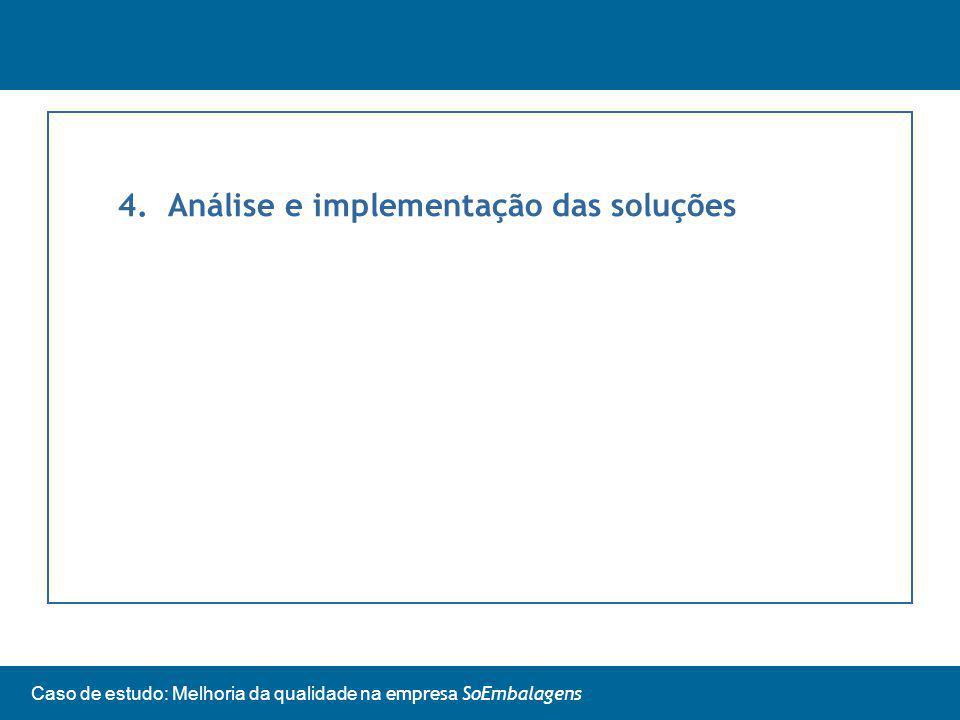 4. Análise e implementação das soluções