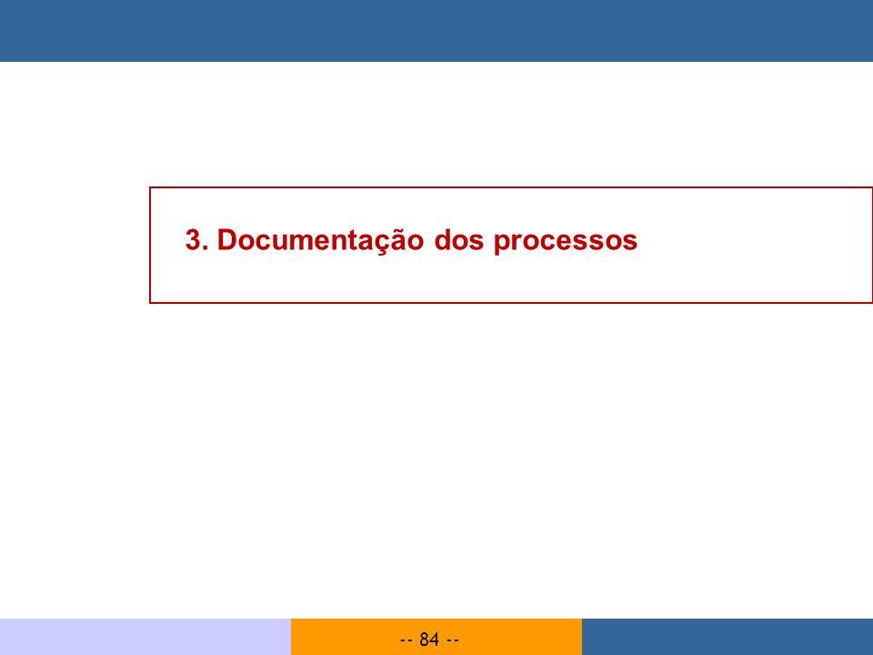 3. Documentação dos processos