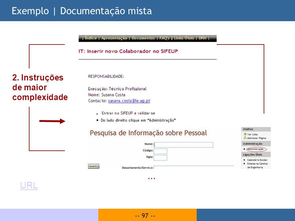 Exemplo | Documentação mista
