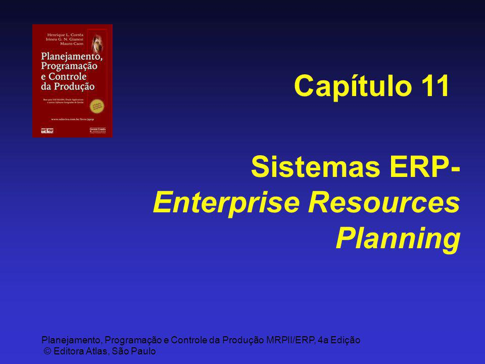 Capítulo 11 Sistemas ERP-Enterprise Resources Planning