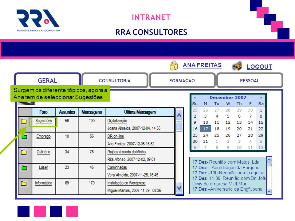 INTRANET RRA CONSULTORES