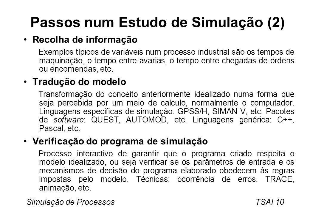 Passos num Estudo de Simulação (2)