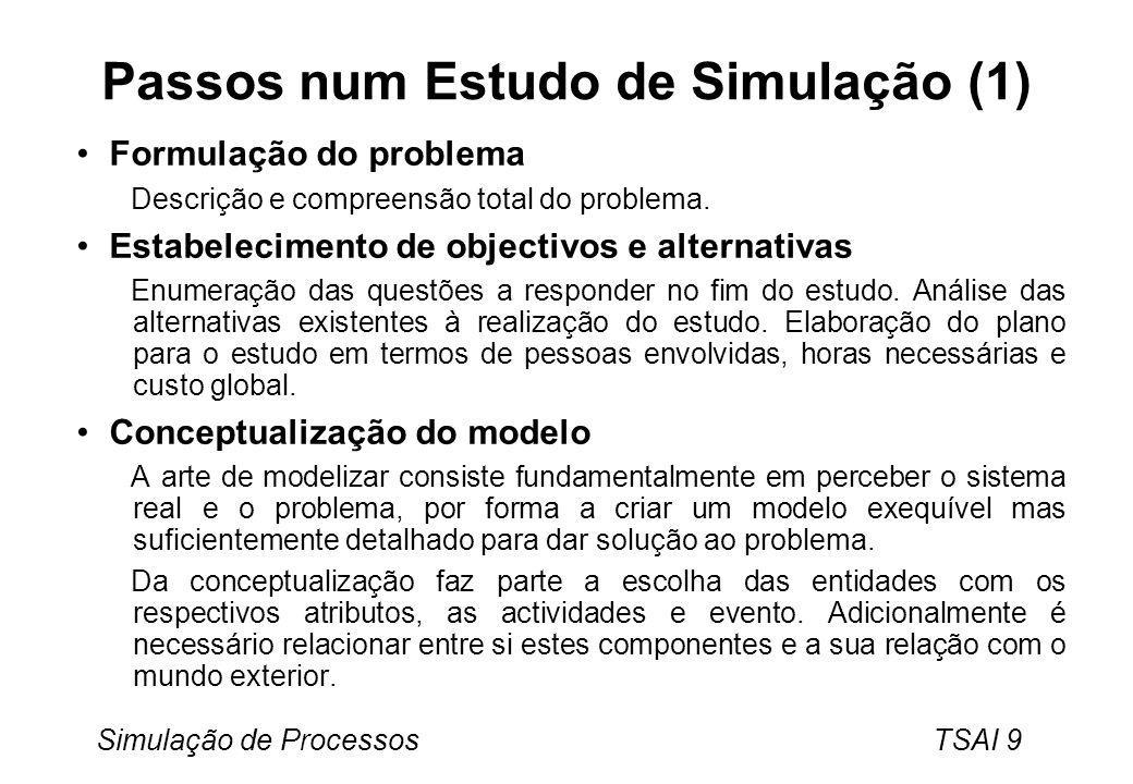 Passos num Estudo de Simulação (1)