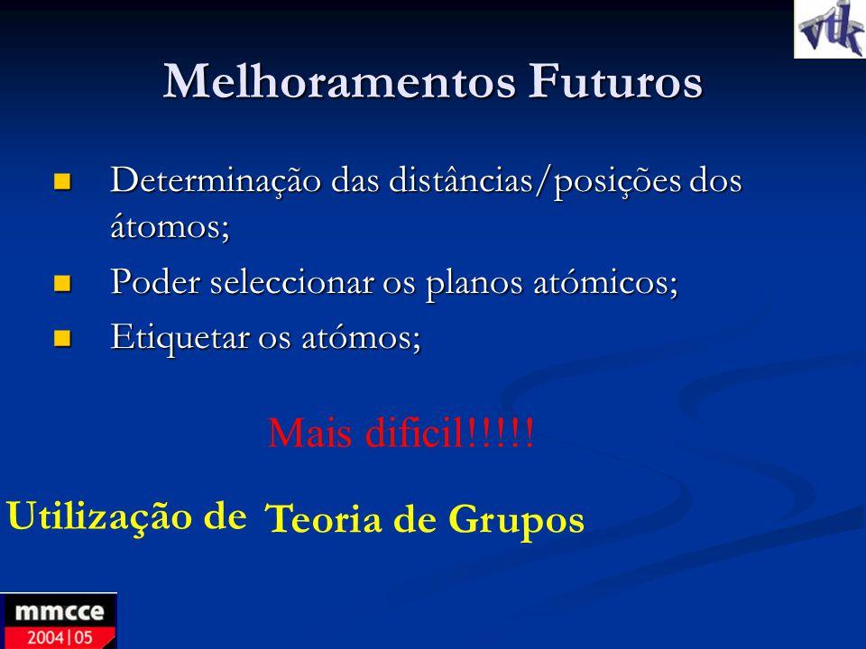 Melhoramentos Futuros