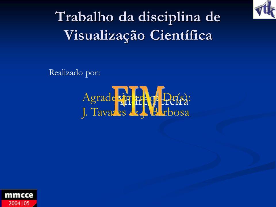 Trabalho da disciplina de Visualização Científica
