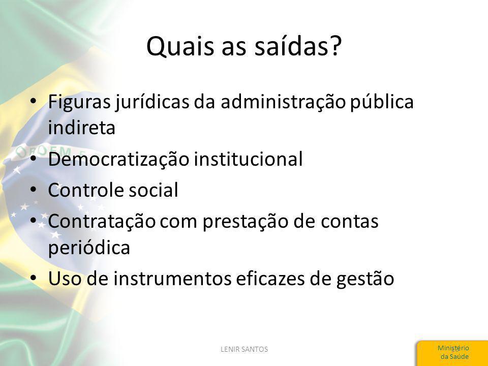Quais as saídas Figuras jurídicas da administração pública indireta