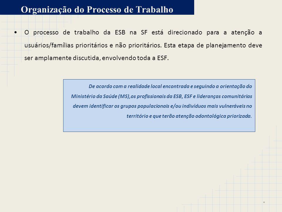 Organização do Processo de Trabalho