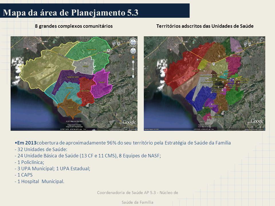 Mapa da área de Planejamento 5.3