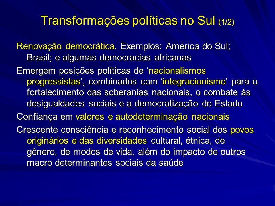Transformações políticas no Sul (1/2)