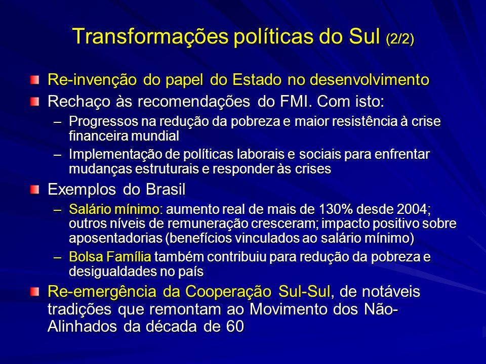 Transformações políticas do Sul (2/2)