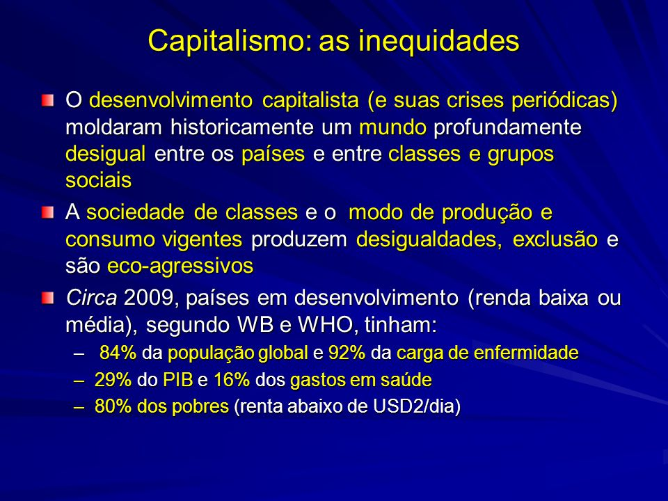 Capitalismo: as inequidades