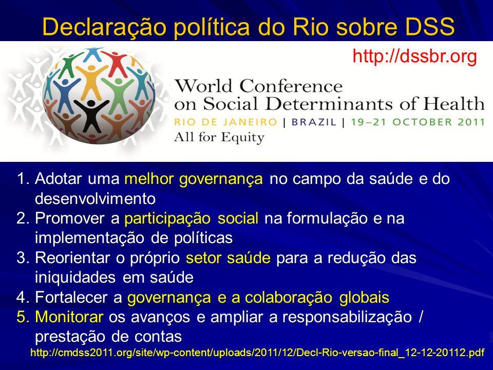 Declaração política do Rio sobre DSS