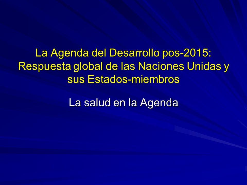 La Agenda del Desarrollo pos-2015: Respuesta global de las Naciones Unidas y sus Estados-miembros
