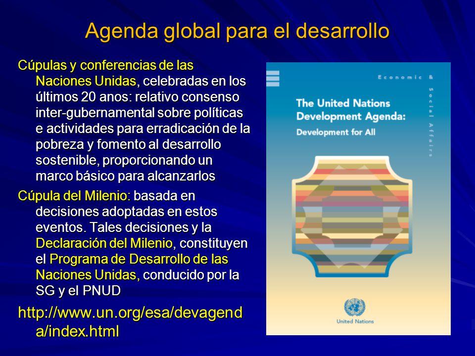 Agenda global para el desarrollo