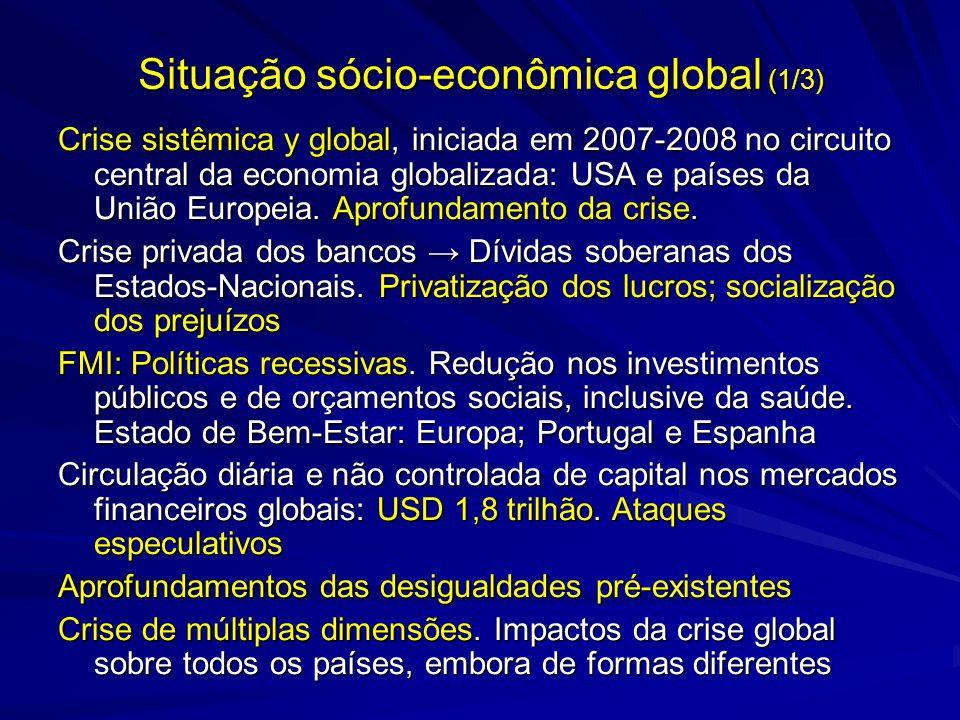 Situação sócio-econômica global (1/3)