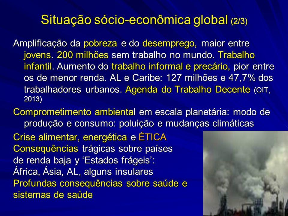 Situação sócio-econômica global (2/3)