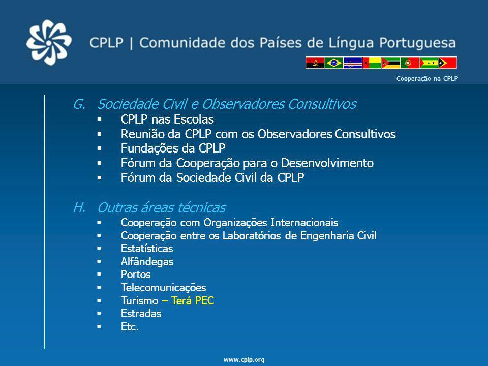Sociedade Civil e Observadores Consultivos
