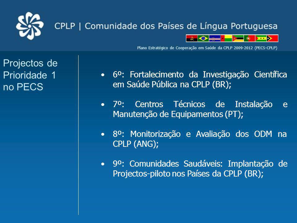 Projectos de Prioridade 1 no PECS