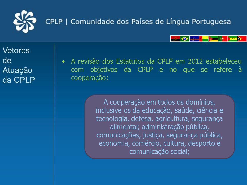 Vetores de Atuação da CPLP