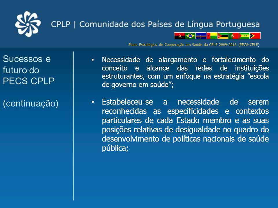 Sucessos e futuro do PECS CPLP