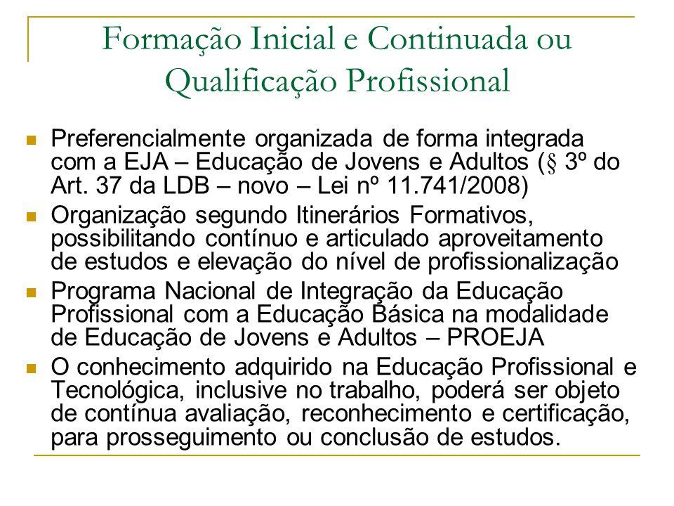 Formação Inicial e Continuada ou Qualificação Profissional